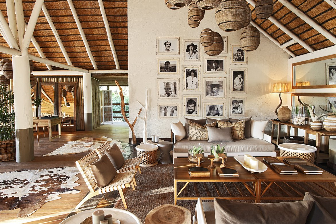 The main and lounge area of Founders Camp Londolozi
