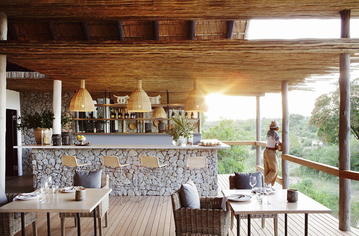 The granite deck at Londolozi